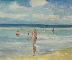 Tête á tête - een olieverfschildery door Peter Smit.