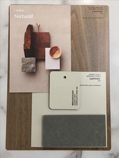 Laminex & essastone Natural Colour Scheme - Natural Walnut, Sarsen Grey, Innovations Sarsen Grey Corrugate, Concrete Pezzato Walnut Timber, Walnut Floors, Mood Board Interior, Interior Design Boards, Bathroom Color Schemes, Colour Schemes, Floor Colors, House Colors, Timber Bathroom Vanities