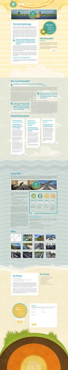 Beautiful single page website for renewable energy. I love the colors. #webdesign #web #design #renewableenergy