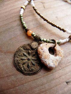 Zayante  sea stone talisman by FlotsamTide on Etsy, $48.00