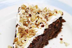 Intens chokoladebombe uden mel, men med masser af nødder og kvalitetschokolade. Fransk chokoladekage!