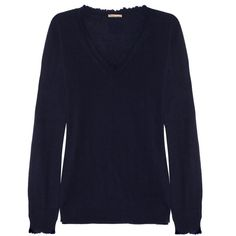 Tomas Maier Frayed-edge cashmere sweater ($975) ❤ liked on Polyvore