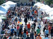 Crowd shot of the Glenwood Avenue Arts Fest