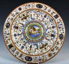176: Cantagalli Italian Majolica Ceramic Lustre Charger : Lot 0176