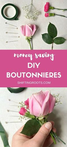 Planning a wedding or special event this summer?  Save money of your flower budget and make your own DIY boutonnieres.  Perfect for groomsmen, family, and even the bride's hair. #wedding #rusticwedding #diywedding #boutonnieres #frugalwedding #weddingflowers