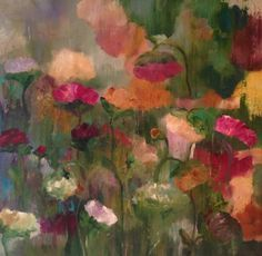 The light inside the flowers 36x36by Mary Suzanne GarveyNew-Paintings-2015