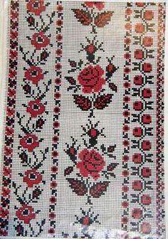 Beading _ Pattern - Motif / Earrings / Band ___ Square Sttich or Bead Loomwork ___ Cross Stitch Borders, Cross Stitch Designs, Cross Stitching, Cross Stitch Embroidery, Hand Embroidery, Cross Stitch Patterns, Palestinian Embroidery, Hungarian Embroidery, Beading Patterns