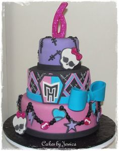 Monster High Cake - by CherryBayCakery @ CakesDecor.com - cake decorating website