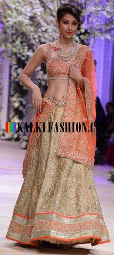 http://www.kalkifashion.com/designers/jyotsna-tiwari.html Urnashi Rautela and other models walk the ramp for Jyotsna Tiwari at Indian Bridal Week NOV 2013 at Mumbai 50