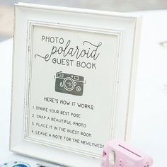 Wedding Polaroid Guest Book Guestbook by ElleLaneDesign on Etsy