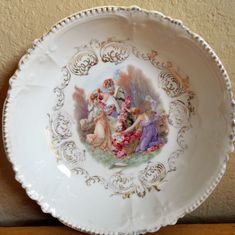 Antiques Schumann Bavaria Pheasant Peacock Bowl Gilded Accents Germany No Chips Wide Varieties Ceramics & Porcelain