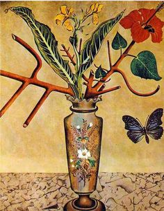 Joan Miró - Flowers and Butterfly (1922)