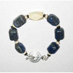 Navy Blue and Beige Men's Bracelet