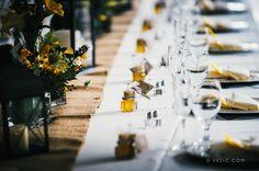 Wedding table setting at Hawkesdene House