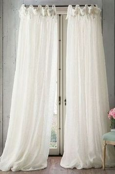 Soft Surroundings Window Coverings - Balloon Drapery Panel I Balloon Curtains, Drapes Curtains, Bedroom Curtains, Linen Curtain, Sheer Drapes, Linen Bedroom, Shower Curtains, French Country Living Room, Drapery Panels
