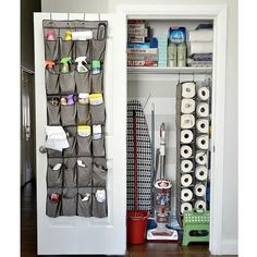 Ideas: 20 Easy Storage For Your Home Organization Ideas: 20 Easy Storage For Your Home; Cleaning closet inset next to dog kennelOrganization Ideas: 20 Easy Storage For Your Home; Cleaning closet inset next to dog kennel Organisation Hacks, Linen Closet Organization, Storage Hacks, Closet Storage, Diy Storage, Kitchen Storage, Locker Storage, Storage Organization, Bathroom Organization