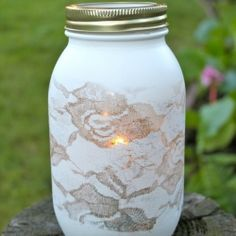 How to Paint a Mason Jar.