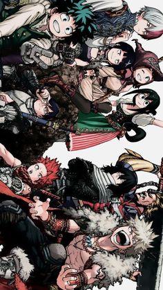 Fondos de Pantalla Anime ヽ(^o^ )^_^ )ノ - Boku No Hero Academia My Hero Academia Tsuyu, My Hero Academia Shouto, Hero Academia Characters, Anime Characters, Otaku Anime, Anime Art, Cute Anime Wallpaper, Hero Wallpaper, Bakugou Manga
