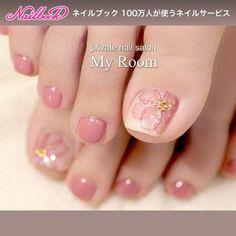 Summer / Foot / Flower / Trapism / Medium Nail Design for my_room[No.2427677]nail book - #2427677 #design #flower #medium #summer #trapism - #Genel #toenaildesigns