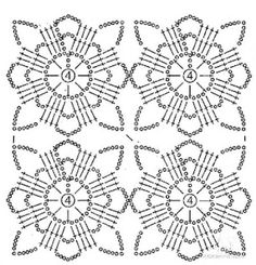 New Woman's Crochet Patterns Part 16 - Beautiful Crochet Patterns and Knitting Patterns Filet Crochet, Crochet Shawl Diagram, Beau Crochet, Crochet Motifs, Crochet Blocks, Crochet Stitches Patterns, Crochet Chart, Crochet Squares, Thread Crochet