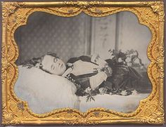 tuesday-johnson:  ca. 1858, [post mortem ambrotype portrait of a...
