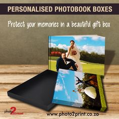 Create a personalised photobook box with your photobook. Personalised Box, Beautiful Gift Boxes, Photo Book, Memories, Create, Prints, Books, Memoirs, Souvenirs