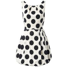 Forever New Sophia Polka Dot Dress ($76) ❤ liked on Polyvore featuring dresses, vestidos, short dresses, robes, full skirt mini dress, short polka dot dress, white polka dot dress, white mini dress and white full skirt dress