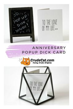 Funny Anniversary Popup Dick Card - Sexy Anniversary - Funny Mature Card - Funny Love Card - For Wife or For Husband - Dirty Card Homemade Anniversary Gifts, Unique Anniversary Gifts, Anniversary Funny, Anniversary Cards, Funny Love Cards, Cards For Friends, Wedding Book, Birthday Greeting Cards, Card Sizes