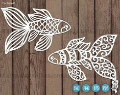 Fish Svg, Fish Cut File! Fish Papercut Template, Sea Svg, Fish Clipart, Ocean Svg, Interesting Svg, Original Svg, for Silhouette and Cricut For personal and commercial use. For personal and commercial use. 2 Original designs in SVG, PNG, PDF, EPS formats.