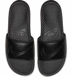 Mens Nike Benassi JDI Ltd Black/black Size 16 for sale online Nike Slides, Men Slides, Shops, Nike Benassi, Slide Sandals, All Black Sneakers, Men's Sneakers, Wardrobe Staples, Birkenstock