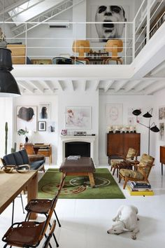 Loft Living at its Best: The Delfin and Postigo Madrid Residence. Photography by Manolo Yllera for Yetzler, featured on Avenue Lifestyle.