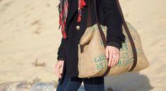 Coudre un sac de voyage en toile de jute