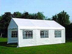 Zelt Palma 4x6m PVC weiß Partyzelt frostfest Garten Pavillon mit Fenstern
