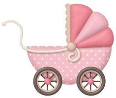 Baby Girl 4 - Pink Stroller - Ideas of Pink Stroller - Stroller Pink for Baby Girl Clipart Baby, Baby Shower Clipart, Baby Cookies, Baby Shower Cookies, Dibujos Baby Shower, Baby Transport, Scrapbook Bebe, Girls Clips, Shower Bebe