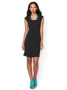 Scoopneck Ribbed Jersey Sheath by Rachel Roy at Gilt