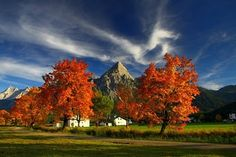 Zugspitzarena autumn Life Is Like, Places Ive Been, Paths, Trail, Country Roads, Europe, Painting, Autumn, Snowshoe