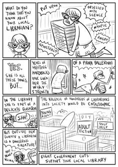 Keep librarians off the streets! from librarycartoons on wordpress.