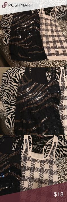 ❤️❤️2 Sequins Tanks Tops Medium❤️❤️ ❤️❤️Two Medium Tank Tops❤️❤️❤️Make An Offer Tops Tank Tops