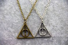 Harry Potter Deathly Hallows Geometric Pendant Necklace