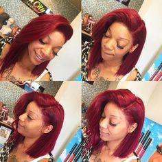 """Hair and frontal from #glamcitysalon #lacefrontal #sewn #glamcitysalon"""