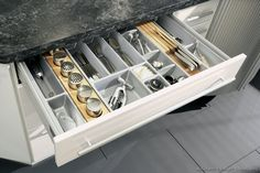 Utility Drawer for utensils, knives, spices, and more (manufactured by ALNO, AG)