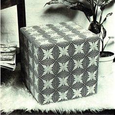PDF Vintage 1970s Crochet Pattern MOD Pouffe Square Home Crochet Motif, Knit Crochet, Crochet Patterns, Hippie Chick, Afghan Blanket, Skater Girls, Retro Home Decor, Vintage Knitting, Afghans