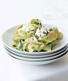 Pasta With Smashed Peas|Simple and sophisticated, this dish is elegant enough to serve to guests but only takes 20 minutes to make. Ricotta gives the pasta a mild, creamy flavor and adds just the right amount of richness.