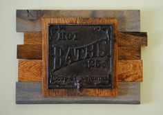 Hand crafted from reclaimed wood with vintage bath hook