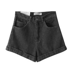 Chicnova Fashion Denim High Waist Shorts ($29) ❤ liked on Polyvore featuring shorts, bottoms, chicnova, high rise denim shorts, slim shorts, high-rise shorts, multi colored shorts and colorful shorts