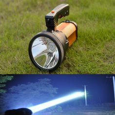 Odear Super Bright Outdoor Handheld Portable USB Rechargeable Flashlight Torch Searchlight Multi-function Long Shots Lamp (Golden) -- New and awesome product awaits you, Read it now  : Camping stuff