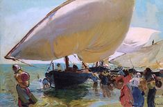 Joaquin Sorolla y Bastida The Return of the Boats - The Largest Art reproductions Center In Our website. Low Wholesale Prices Great Pricing Quality Hand paintings for saleJoaquin Sorolla y Bastida Pablo Picasso Cubism, Old Master, Large Art, Abstract Expressionism, Great Artists, Painting Inspiration, Impressionism, Art For Sale, Art Reproductions