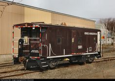 RailPictures.Net Photo: PW 5001 Providence and Worcester Railroad Caboose at Cumberland, Rhode Island by Ron Chouinard