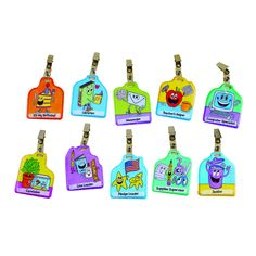 Students wear their jobs like a badge of honor with this clip-on job badge set! Assign a job to a student, clip it on, and let him or her wear it all day! Grades Pre-K to 2 - Includes 10 wipe-clean, d