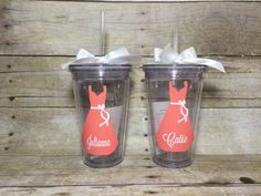 Personalized 16oz  Wedding Tumblers Bridesmaid and